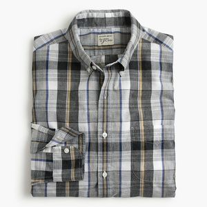 New J Crew Secret Wash Heather Poplin Shirt